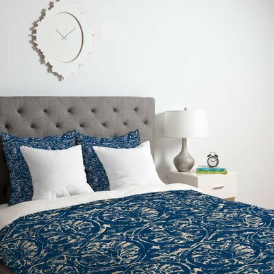 Damask Duvet Cover Size: Queen