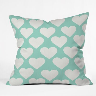 Allyson Johnson Minty Love Throw Pillow Size: 16 H x 16 W x 4 D