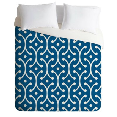 Holli Zollinger Denim Picket Duvet Cover Size: Twin/Twin XL