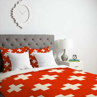 Vermillion Plus Duvet Cover Size: Queen