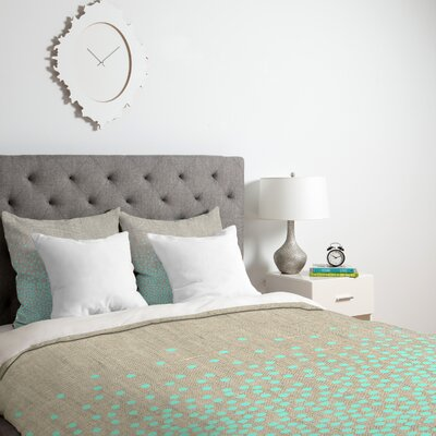 Iveta Abolina Hint of Mint Duvet Cover Size: Twin/Twin XL