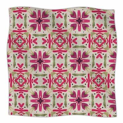 Echinacea Garden By Laura Nicholson Fleece Blanket Size: 80 L x 60 W x 1 D