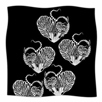 Heart By Maria Bazarova Fleece Blanket Size: 80 L x 60 W x 1 D