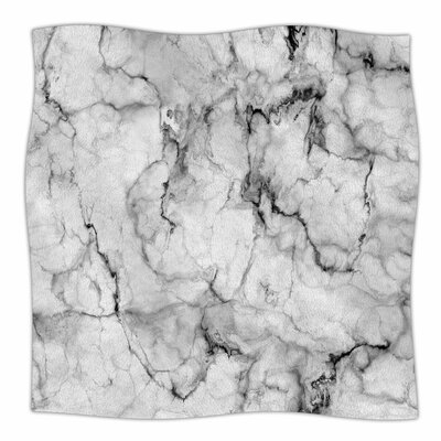 Marble No 2 By Chelsea Victoria Fleece Blanket Size: 80 L x 60 W x 1 D
