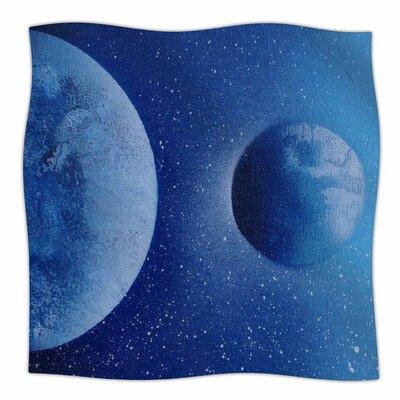 Interplanetary Alignments By Infinite Spray Art Fleece Blanket Size: 80 L x 60 W x 1 D