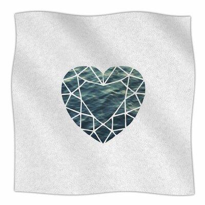 'Ocean Love' By Chelsea Victoria Fleece Blanket Size: 60