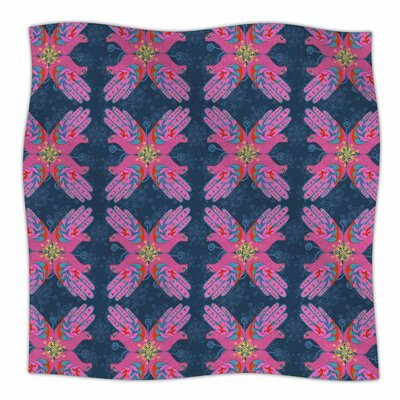 Hamsa By Jane Smith Fleece Blanket Size: 80 L x 60 W x 1 D