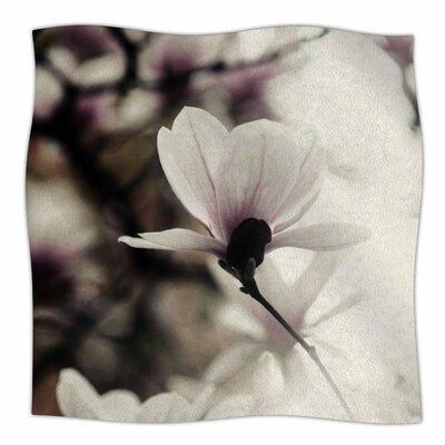 Vanilla Magnolia By Chelsea Victoria Fleece Blanket Size: 80 L x 60 W x 1 D