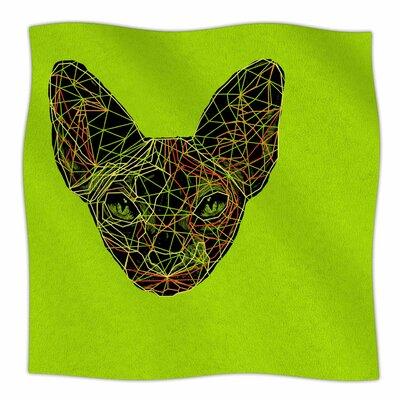 Geometry Sphynx By BarmalisiRTB Fleece Blanket Size: 80 L x 60 W x 1 D