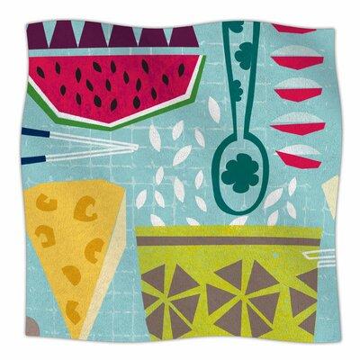 Dinner Out By Agnes Schugardt Fleece Blanket Size: 80 L x 60 W x 1 D