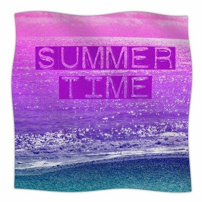 Summer Time By Alison Coxon Fleece Blanket Size: 80 L x 60 W x 1 D