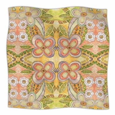 Ethnic Floral By Louise Machado Fleece Blanket Size: 80 L x 60 W x 1 D