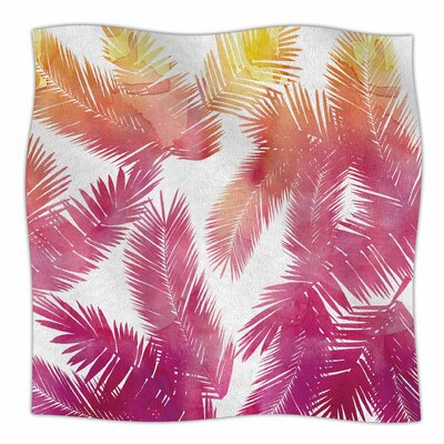 Tropic by Draper Fleece Blanket Color: Pink, Size: 60 W x 80 L
