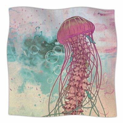 Jellyfish By Mat Miller Fleece Blanket Size: 80 L x 60 W x 1 D
