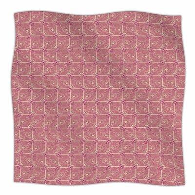 Love/Love/Love By Alisa Drukman Fleece Blanket Size: 80 L x 60 W x 1 D