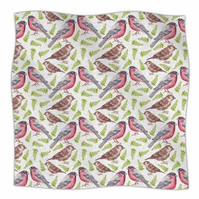 Sparrow And Bullfinch By Alisa Drukman Fleece Blanket Size: 60 L x 50 W x 1 D
