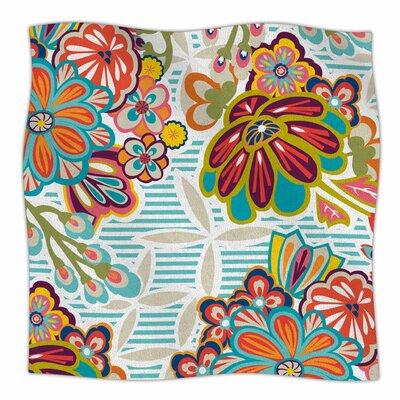 Kimono Floral By Agnes Schugardt Fleece Blanket Size: 60 L x 50 W x 1 D