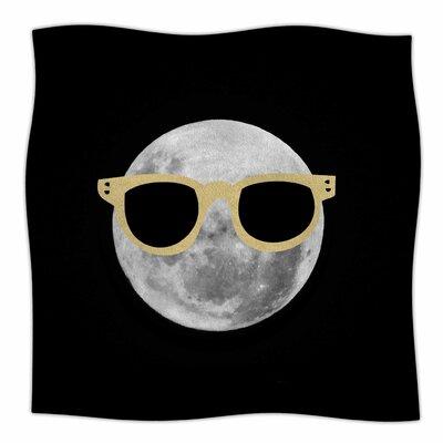 Mr Moon By Chelsea Victoria Fleece Blanket Size: 80 L x 60 W x 1 D