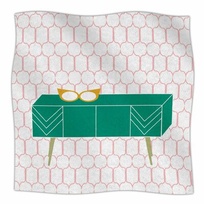 Credenza Madness By Bridgette Burton Fleece Blanket Size: 80 L x 60 W x 1 D