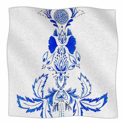 Azulejo By Cecilia Burgues Fleece Blanket Size: 60 L x 50 W x 1 D