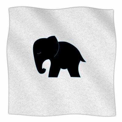 Cute Elephant By NL Designs Fleece Blanket Size: 80 L x 60 W x 1 D