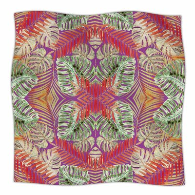 Summer Jungle Blue by Alison Coxon Fleece Blanket Color: Purple, Size: 60 W x 80 L