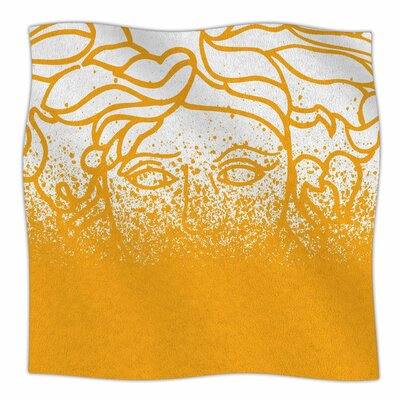 Versus Spray by Just L Fleece Blanket Size: 50 W x 60 L, Color: Orange