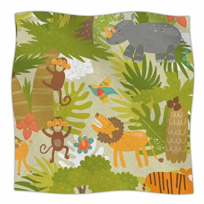 Roar Of The Jungle By Petit Griffin Fleece Blanket Size: 60 L x 50 W x 1 D
