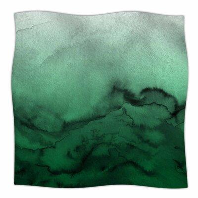 Winter Waves  By Ebi Emporium Fleece Blanket Size: 80 L x 60 W x 1 D, Color: Green/Black