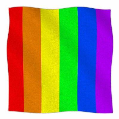 Rainbow By Bruce Stanfield Fleece Blanket Size: 60 L x 50 W x 1 D