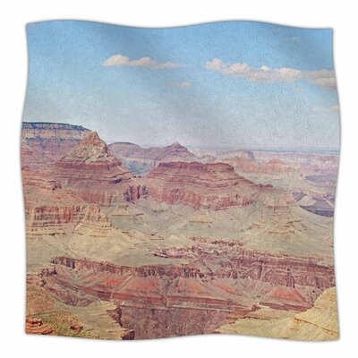 Grand Canyon Panoramic By Sylvia Coomes Fleece Blanket Size: 60 L x 50 W x 1 D