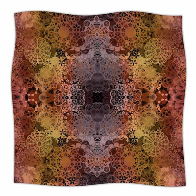 Floral Fall Pattern By Pia Schneider Fleece Blanket Size: 60 L x 50 W x 1 D