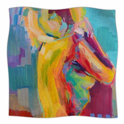 Turquesa By Cecibd  Fleece Blanket Size: 60 L x 50 W x 1 D