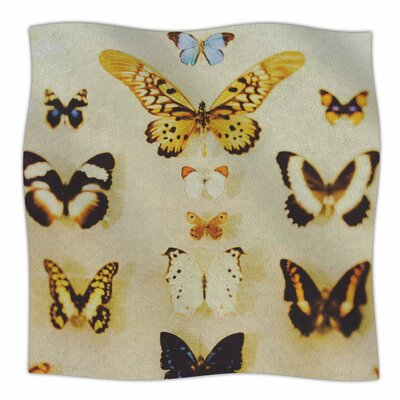 The Butterfly Collection By Chelsea Victoria Fleece Blanket Size: 60 L x 50 W x 1 D
