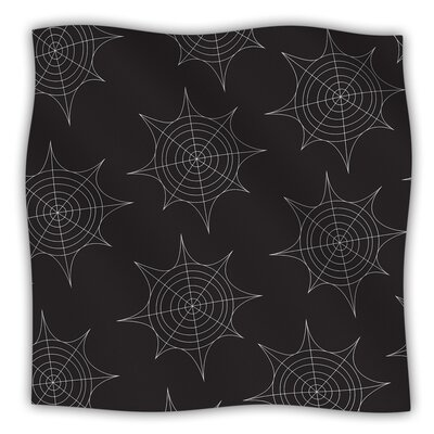 Spiderwebs Fleece Blanket Size: 60 W x 80 L, Color: Black