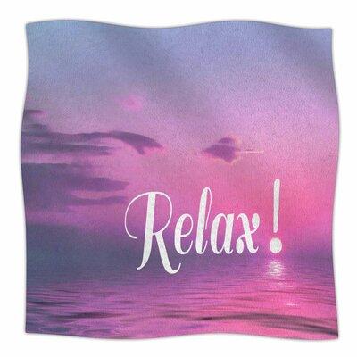Relax By Alison Coxon Fleece Blanket Size: 60 L x 50 W x 1 D