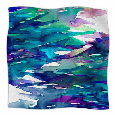 Fervor By Ebi Emporium Fleece Blanket Size: 60 L x 50 W x 1 D, Color: Blue/Teal