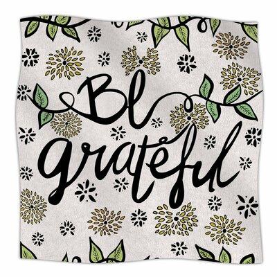 Be Grateful By Pom Graphic Design  Fleece Blanket Size: 60 L x 50 W x 1 D