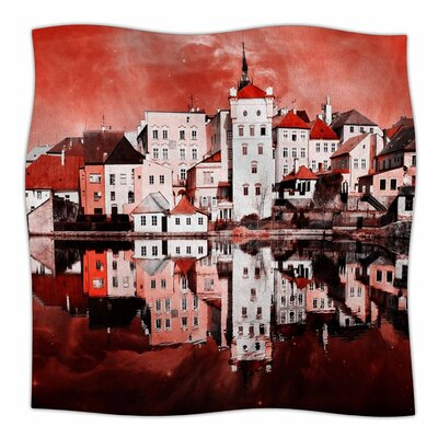 Sky At Night by Suzanne Carter Fleece Blanket Size: 50 W x 60 L, Color: Red