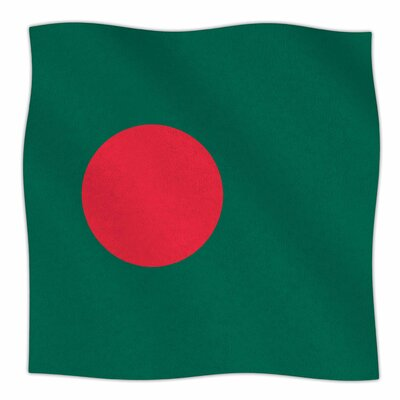 Flag Of Bangladesh By Bruce Stanfield Fleece Blanket Size: 80 L x 60 W x 1 D