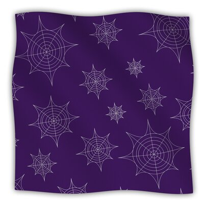 Mini Webs Fleece Blanket Color: Purple, Size: 60 W x 80 L