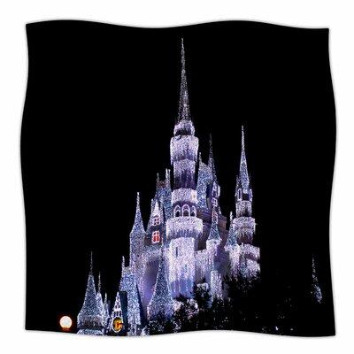 Frozen Castle By Philip Brown Fleece Blanket Size: 80 L x 60 W x 1 D