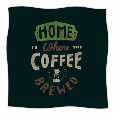 Home Is Where By Tatak Waskitho Fleece Blanket Size: 80 L x 60 W x 1 D