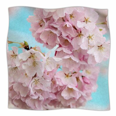 A Pastel Spring By Sylvia Cook Fleece Blanket Size: 80 L x 60 W x 1 D