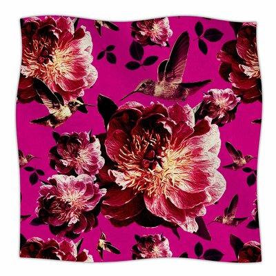 Floral By Shirlei Patricia Muniz Fleece Blanket Size: 60 L x 50 W x 1 D