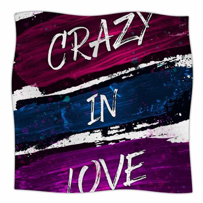 Crazy In Love By Noonday Design Fleece Blanket Size: 60 L x 50 W x 1 D