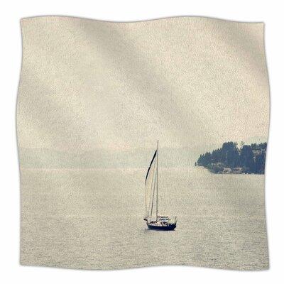 Hazy Sea By Sylvia Coomes Fleece Blanket Size: 60 L x 50 W x 1 D
