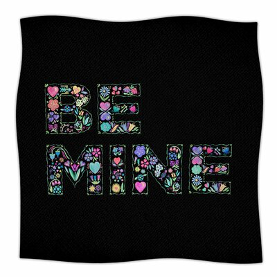 Be Mine By Noonday Design Fleece Blanket Size: 80 L x 60 W x 1 D