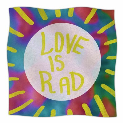 Love Is Rad By Vasare Nar Fleece Blanket Size: 60 L x 50 W x 1 D