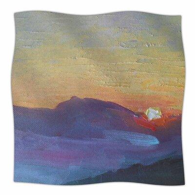 Mountain Sunset By Carol Schiff Fleece Blanket Size: 60 L x 50 W x 1 D